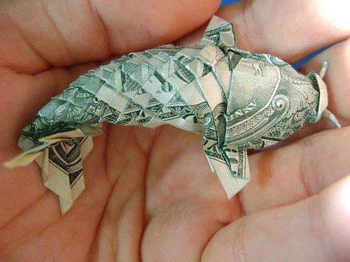 рыба из денежных купюр Основные